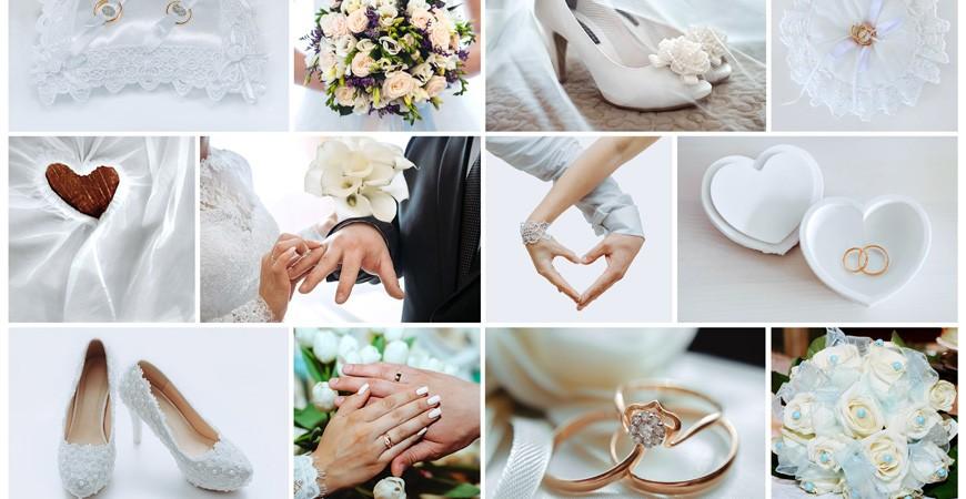 Elige accesorios para una boda